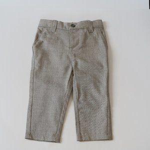 Deux Par Deux Beige Toddler Boys Dress Pants